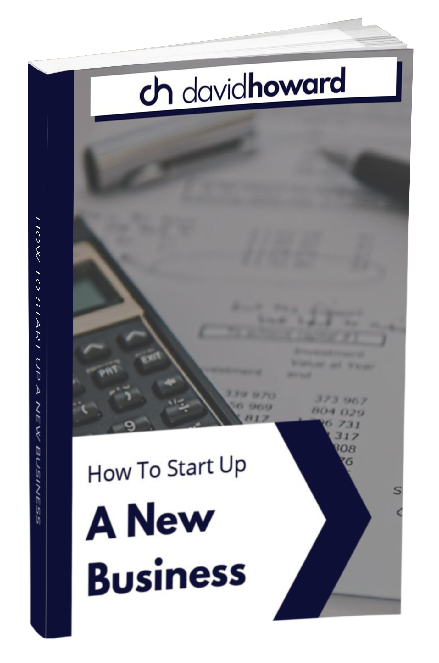 David Howard - How to start up a new business Mock Up